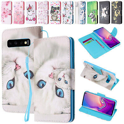 For Samsung A70 A50 A30 A20 Case Magnetic Flip Patterned Leather Card Slot Cover