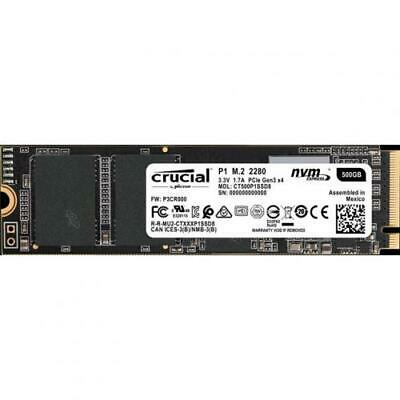 Crucial P1 500GB NVMe PCIe M.2 2280 up to 1,900 MB/s Read, 950 MB/s Write, 5 yea