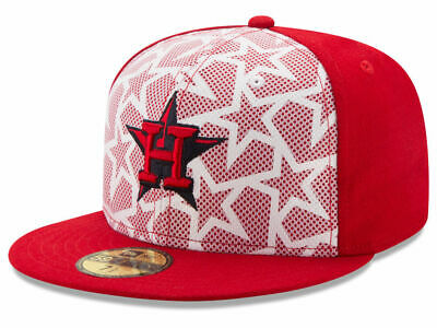 7055faaf4 MLB Houston Astros Men's Stars & Stripes 59Fifty Fitted Cap 7 5/8 New