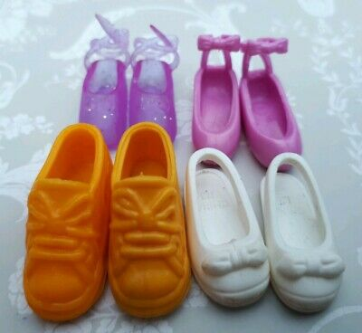 Sindy Doll Pedigree Vintage Pair Yellow Squichy Pairs Shoes Sandals Accessories