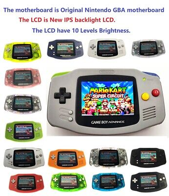 Game Boy Advance GBA Game Console with V2 iPS Backlight Backlit LCD MOD Console