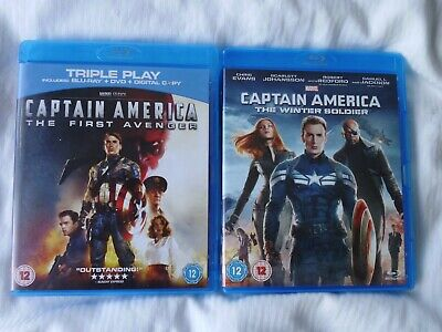 Captain America:The First Avenger,The Winter Soldier & Civil War blu ray (R0)
