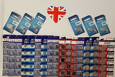 PACK OF 5 X LITHIUM 3 VOLT 15 Different Numbers of Batteries For More Things