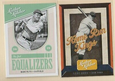 2019 PANINI LEATHER & LUMBER HOME RUN KINGS & EQUALIZERS Babe Ruth NY Yankees