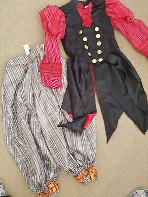 THE DISNEY STORE alice Through The Looking Glass Pirate Costume Age 5 To 6