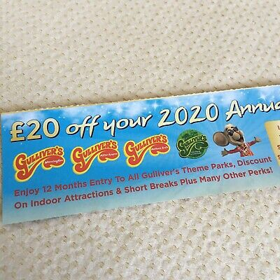 Gullivers World Theme Park Annual Pass £20 OFF Coupon Tickets Family Attraction