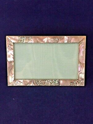 Beautiful Antique Mother Of Pearl Picture Frame