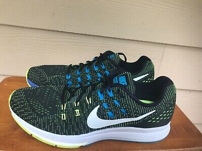 sports shoes fdc2f 3966d Nike Zoom Structure 19 Men s Athletic Running Shoes Black Volt Blue Size 10