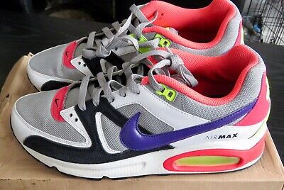 Nike Air Max Command Grey Purple Lime Size UK 7 in Box