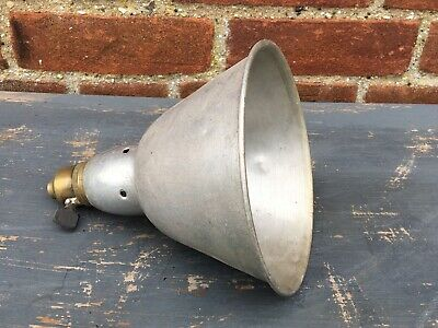 Vintage Industrial Metal Shade With Brass Lamp Holder