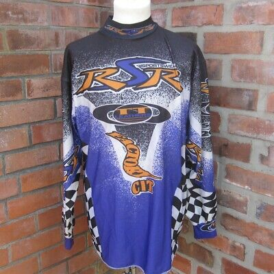 Motocross  Jersey Top Shirt Retro 90s RSR TT  Black Purple Youth XL Adult XS S?
