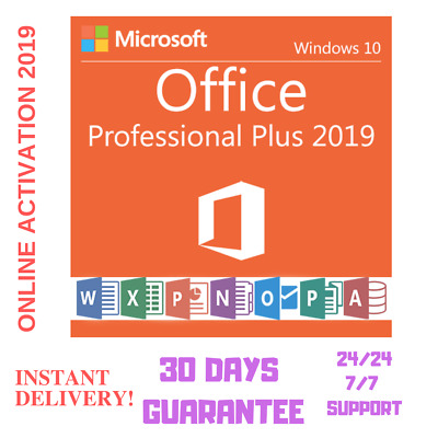 Get Your Microsoft Office 2019 Pro-Plus Official Download & Key- 32/64 bits F-D