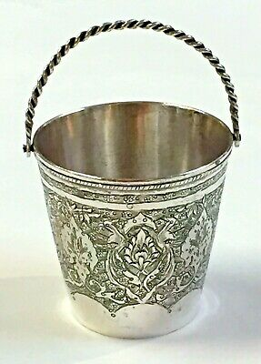 Persian Sterling Silver Cream Pail