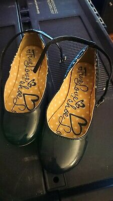 Girls Next Navy Ballet Shoes With Strap UK 1