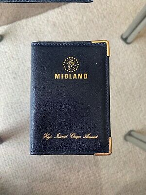 Midland Real Black Leather Cheque Book Holder PLUS Card Wallet | Made In England