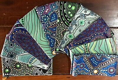 Jelly Roll Aboriginal Australian Fabric Quilting 10 strips (2.5 x 44 inch) #63a