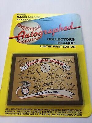 California Angels 1977 Collectors Plaque Factory Sealed New Old Stock