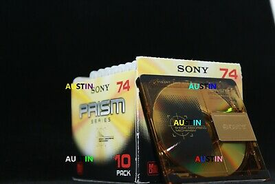 Sony Prism Minidiscs 10 New Blank Disc's With Storage Cube.....