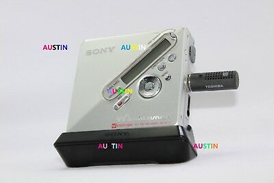 Sony Mz N710 Md  Minidisc With Toshiba Microphone, Batteries..