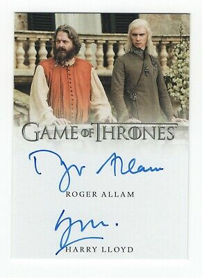 Game of Thrones InfleXions Dual Autograph card - Roger Allam & Harry Lloyd