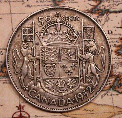 1952 CANADA SILVER (FIFTY) 50 CENT COIN  lot 203