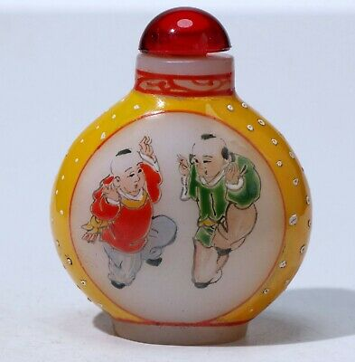 Chinese Exquisite Coloured glaze carved snuff bottle  499