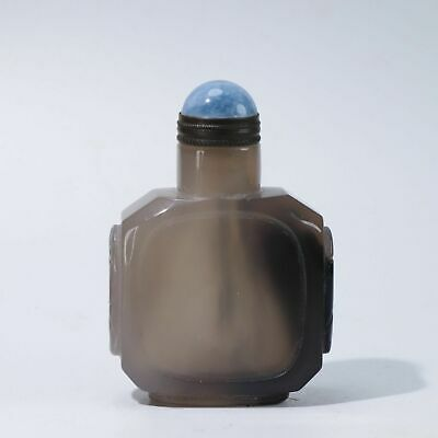 Chinese Exquisite agate carved snuff bottle N515