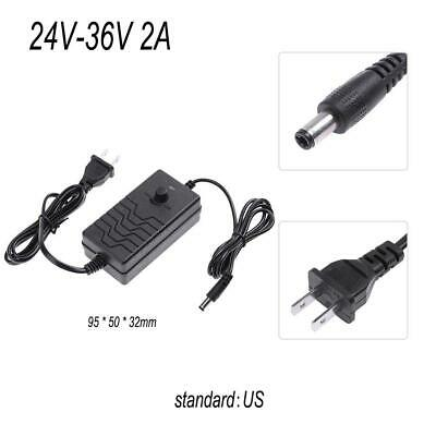 AC to DC Adapter 24-36V 2A Adjustable Power Supply Speed Controller(US)