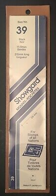 Showgard size 39 black hingeless stamp mount NEW unopened pack 1st quality 215mm