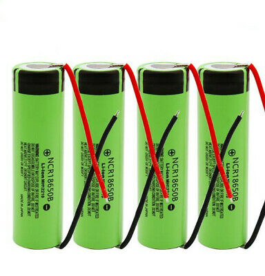 Genuine Panasonic NCR18650B 3400mAh 3.7V Rechargeable Battery with DIY Wire