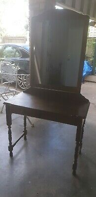 hall stand table with large mirror