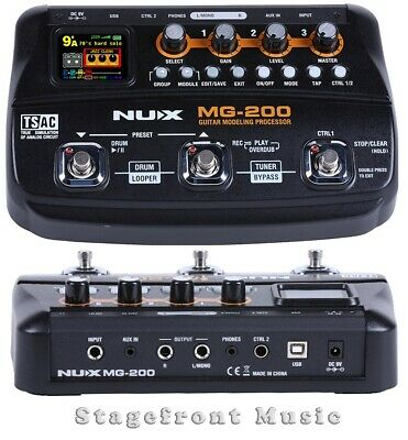 Nux Mg200 Guitar Modeling Processor Multi Effects Unit Pod Create Your Own Sound