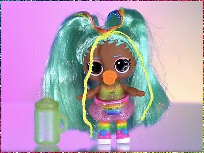 LOL Surprise Rainbow Raver Rare HairGoals Wave 2 Sealed in L.O.L. Hair Goals Can
