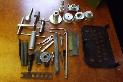Antique/Vintage Watchmaker Tools and materials inc Bakelite in old draw