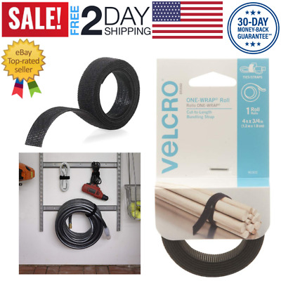 VELCRO ONE-WRAP Roll, Double-Sided, Self Gripping Multi-Purpose Hook & Loop Tape