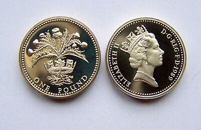 1989 proof  One Pound.Scottish Thistle,100% Proof Coin.