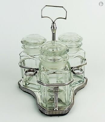 George III OLD SHEFFIELD PLATE Wirework LIQUOR FRAME c1800 Replacement Jars