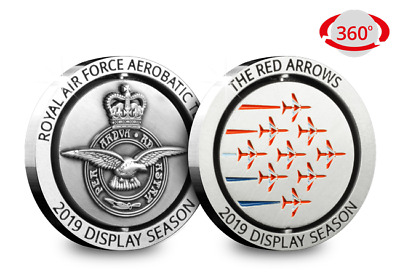 2019 Red Arrows DIsplay Team Official Spinning Commemorative Medal Coin