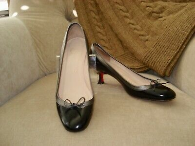 100% authentic 5c250 870fe AUTH. CHRISTIAN LOUBOUTIN Marcia Balla Black Patent Kitten Heel Pumps 36  $625
