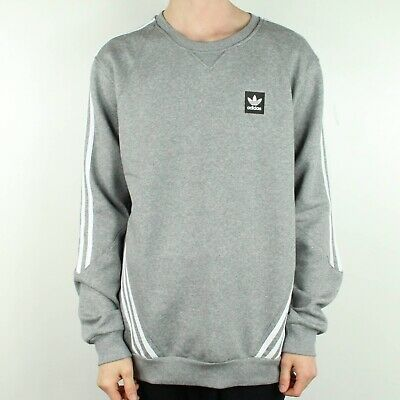 3121067a59521 ADIDAS INSLEY CREWNECK Sweatshirt Pullover Jumper – Grey/White in size S,M,L