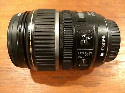 Canon EFS 17-85mm  F4-5.6 IS USM lens with hood and UV filter