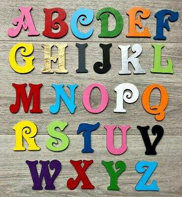 MDF Wooden Letters Number Victorian Font with hanging loop  Craft Blank