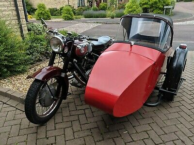 Panther M120 motorcycle with sidecar on Panther chassis - 1964