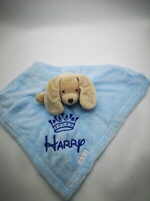 Personalised Baby Soft  crown puppy / princess  Comforter Blanket Girl Gift