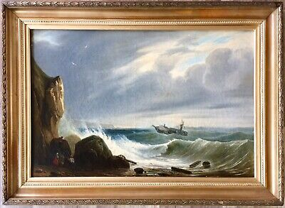 Early 19th century French School oil painting on canvas gilt frame