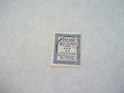 COOK ISLANDS Stamps SG 3 Scott 3 Very Scarce A3 Cancel in PURPLE