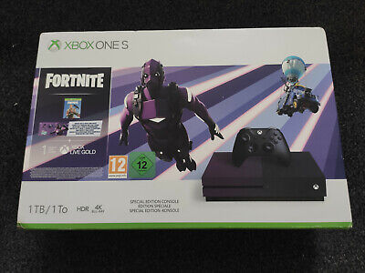 Xbox One S 1TB Fortnite Special Edition Purple Console - NO GAME OR DLC
