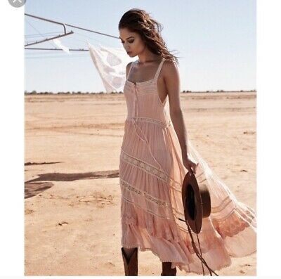 Spell And The Gypsy Prairie Lace Dress Peach XL BNWT Spell Designs