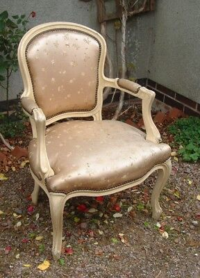 Vintage Antique French Louis XV painted Chair Mid 20thC