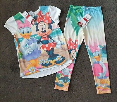 BNWT Disney Minnie Mouse Outfit 5-7 years (leggings & t-shirt)